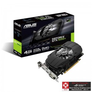 Asus Nvidia GeForce GTX1050TI 4GB DDR5 PH-GTX1050TI-4G Single Fan