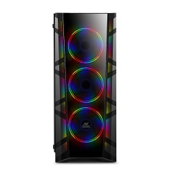 ANT Case ICE 300TG RGB Case With 4 x 120 mm Fan (3 Rainbow Front/ 1 Black Rear)