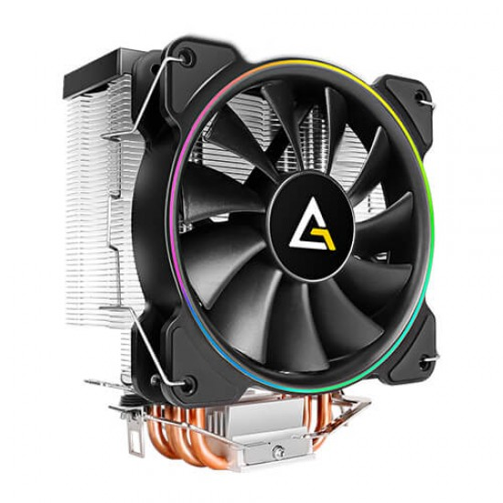 Antec Cpu Cooler A400 RGB With 4 Copper Pipes, 120mm RGB FAN Deltapage.com