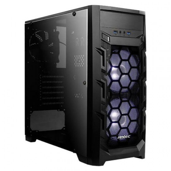 Antec Mid-Tower Case GX202 Blue 2 * 120 MM Led Cooler Deltapage.com