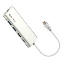 Cadyce USB-C™  MultiPort Docking Station CA-CU3HG - SILVER