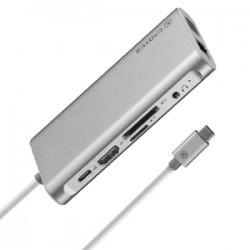 Cadyce USB-C™  MultiPort Docking Station CA-CU3HVG - SILVER