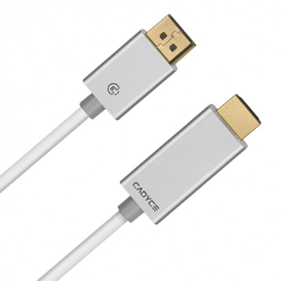 Cadyce DisplayPort™ to HDMI Cable with Audio 1.8M 4K x 2K CA-DPHDC Deltapage.com