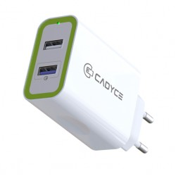 Cadyce 30W Dual USB Wall Charger with Quick Charge 3.0 technology 1x2.4A + 1xQC 3.0 CA-DUWC