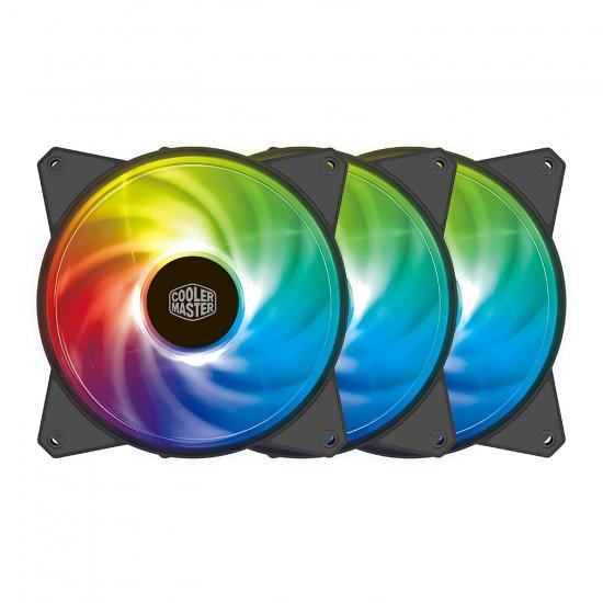 Cooler Master Case Fan MF120R A-RGB 3 in 1 R4-120R-203C-R1 Deltapage.com