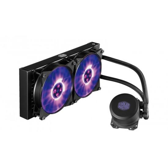 Cooler Master CPU Liquid Cooler MasterLiquid ML240L RGB1.0 MLW-D24M-A20PC-R1 Deltapage.com
