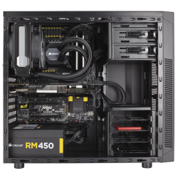 Corsair Case 100R Black  Mid-Tower Case CC-9011075-WW
