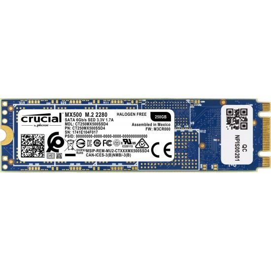 Crucial 250GB MX500 M.2 SATA SSD CT250MX500SSD4 Deltapage.com