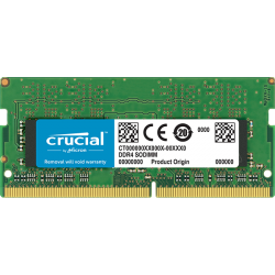 Crucial 8GB DDR4 2400 MHz PC4-19200 CL17 Laptop & NUC RAM CT8G4SFS824A