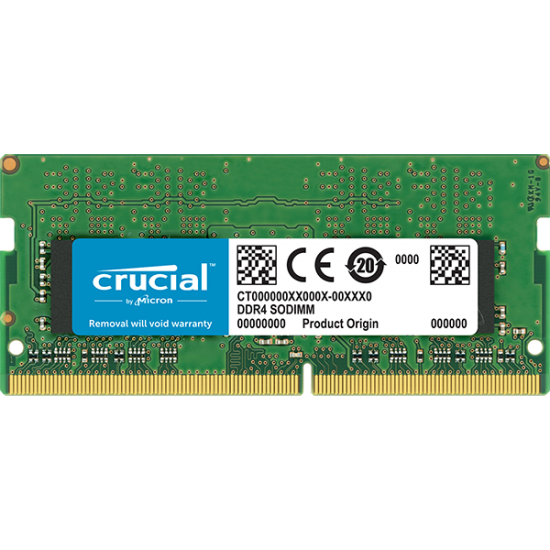 Crucial 8GB DDR4 2400 MHz PC4-19200 CL17 Laptop & NUC RAM CT8G4SFS824A Deltapage.com