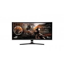 """LG 34"""" Ultra-wide Curve Gaming Monitor 34UC79G IPS Panel FHD 2560*1080 1ms 144 Hz Free-sync With HDMi DP USB Ports"""