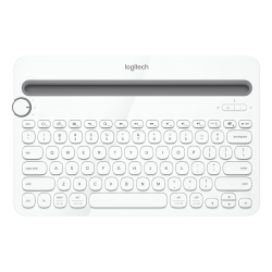 Logitech K480 Bluetooth Multi-Device Keyboard With Dock White