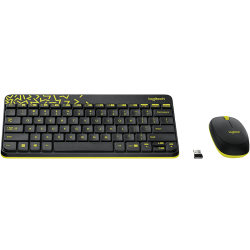 Logitech MK240 Nano Wireless Keyboard and Mouse Combo Black