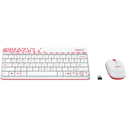 Logitech MK240 Nano Wireless Keyboard and Mouse Combo  White