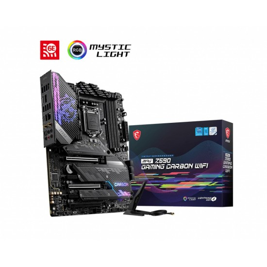 MSI Board MPG Z590 GAMING CARBON WIFI For Intel 10th & 11th Gen  Processors