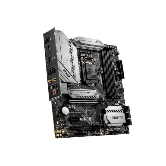 MSI MAG B460M Mortar WiFi Supports 10th Gen Intel® Core™ / Pentium® Celeron® processors for LGA 1200 socket