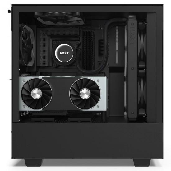 NZXT Case H510i Elite Matt Black With Tempered Glass Fan Controller 2 ARGB LED Strip CA-H510i-B1 Deltapage.com