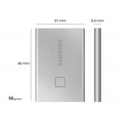 Samsung Portable SSD T7 Touch USB 3.2 1TB (Silver) MU-PC1T0S/WW