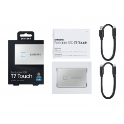 Samsung Portable SSD T7 TOUCH USB 3.2 2TB (Silver) MU-PC2T0S