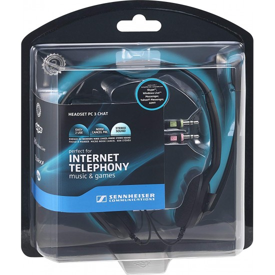 Sennheiser PC 3 CHAT Pc Stereo Headset With Noise Cancelling Microphone Deltapage.com