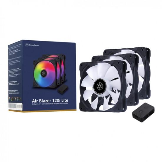 SilverStone AB120I-ARGB-3PK Air Blazer 120i Lite Case Cooler Pack Of 3 Deltapage.com