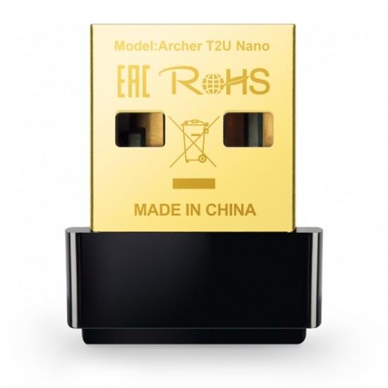 TP-Link Archer T2U Nano AC600 Dual-Band Wi-Fi USB Nano Adapter Deltapage.com