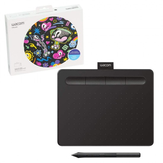 Wacom CTL-4100/K0-CX New Intuos Small Pen Tablet Black Deltapage.com