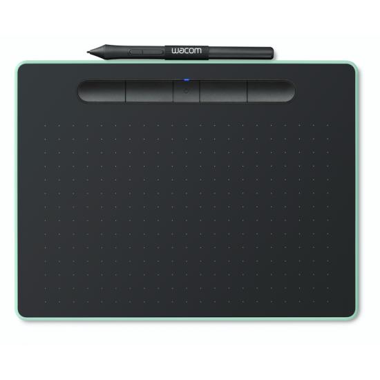 Wacom CTL-4100WL/E0-CX New Intuos Small Bluetooth Pistachio Deltapage.com