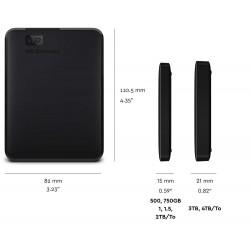 WD Element USB 3.0 Portable External HDD Black 1TB - WDBUZG0010BBK-EESN