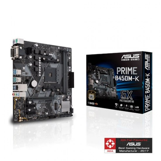 Asus MotherBoard B450 Chipset PRIME-B450M-K