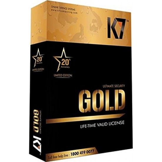 K7 Ultimate Security Gold 1 PC 20 Year Validity