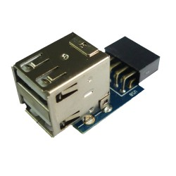 Piranha Internal Motherboard USB 2.0 Hub 9Pin to 2 Port USB Converter PCB Board Extender Card
