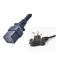 SERVER POWER CORD - 3 PIN AC FEMALE (IEC-320 C19) (16AMPS) - 1.5 MTR