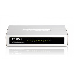 TP-Link : TL-SF1008D : 8-port 10/100M mini Desktop Switch