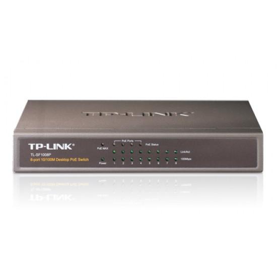 TP-Link : TL-SF1008P : 8-port 10/100M Desktop PoE Switch Deltapage.com