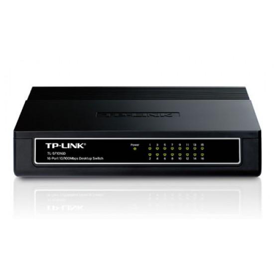 TP-Link : TL-SF1016D : 16-port 10/100M Desktop Switch
