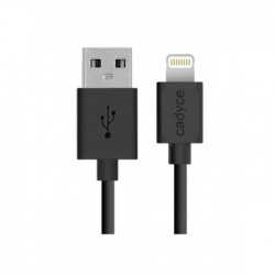 Cadyce USB Lightning cable for iPod, iPhone & iPad (BLACK) (1M) CA-ULC1B