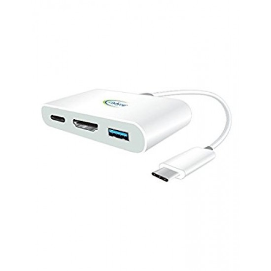 Cadyce USB-C HDMI Multi-Port Adapter (HDMI Female x1 | USB 3.1 USB-C Female x1 | USB 3.0 Female x1) CA-CHM Deltapage.com