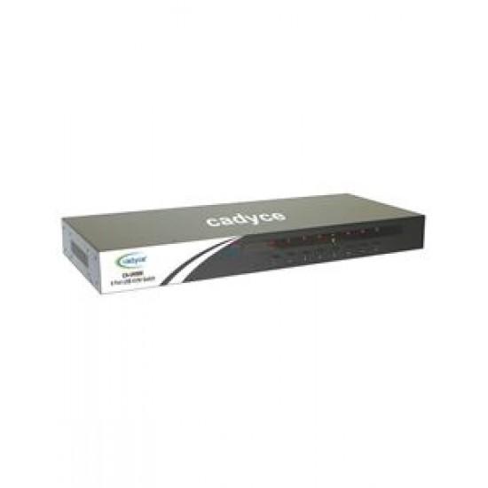 Cadyce 8 Port Rackmount USB KVM Switch with rack mount kit (High VGA resolution 2048 x 1536) CA-UK800 Deltapage.com