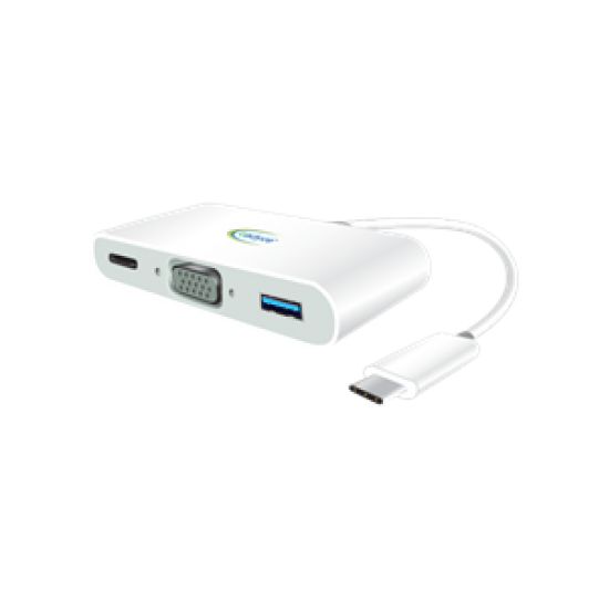 Cadyce USB-C VGA Multi-Port Adapter (VGA Female x1 | USB 3.1 USB-C Female x1 | USB 3.0 Female x1) CA-CVM Deltapage.com
