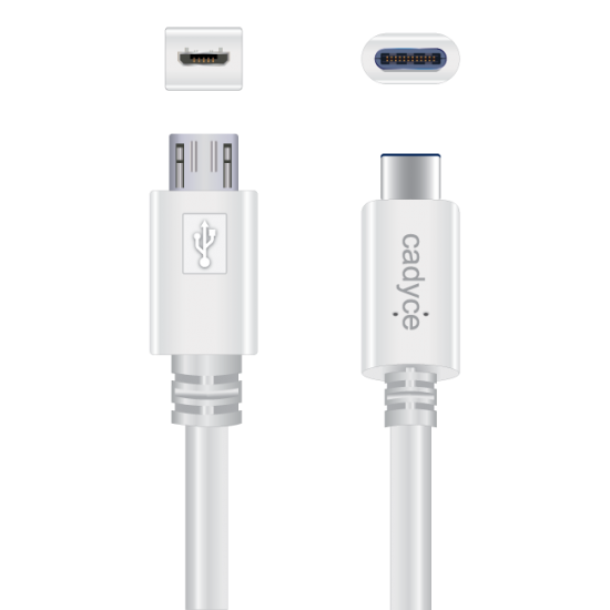 Cadyce USB-C to Micro USB 3.0 Male Cable (Speed 480MBPS / Power 3A / Length 1M) CA-CMICRO Deltapage.com
