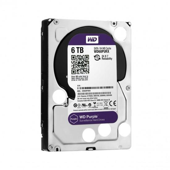 "WD Survailance Purple 5400 RPM 3.5"" Desktop HDD 6TB - WD60PURX Deltapage.com"