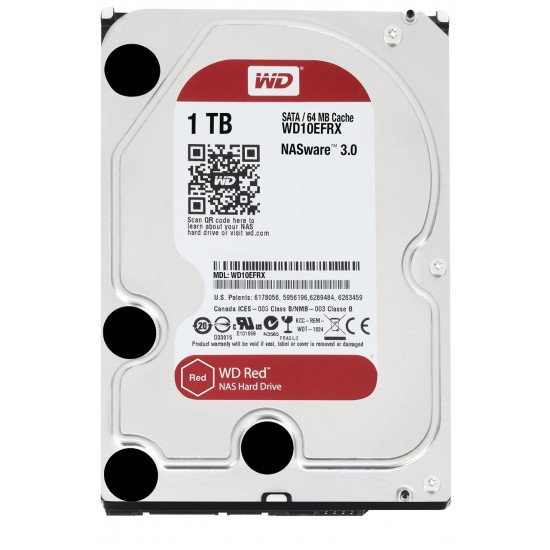 """WD Red 5400 RPM 3.5"""" Desktop HDD 1TB - WD10EFRX Deltapage.com"""