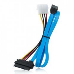 Piranha SAS SFF-8482 29 Pin to 7 Pin + 4 Pin Molex SATA Hard Disk Drive Cable