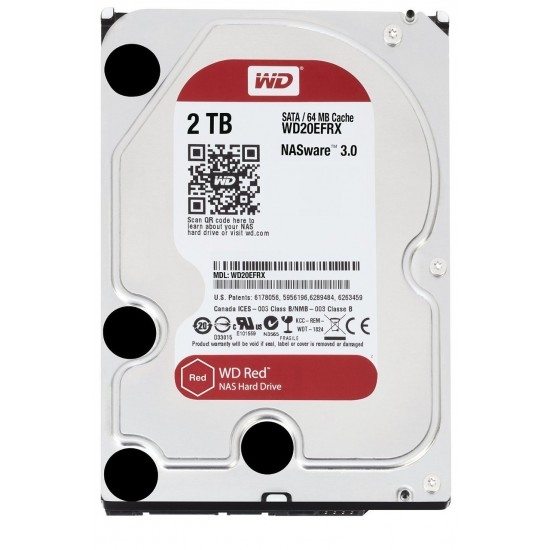 """WD Red 5400 RPM 3.5"""" Desktop HDD 2TB - WD20EFRX Deltapage.com"""