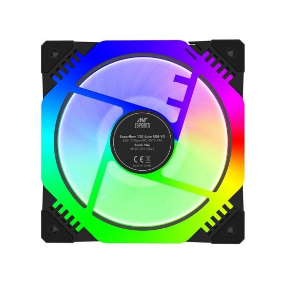 Ant Esports Octaflow 120 Auto RGB 1200 RPM Case Fan